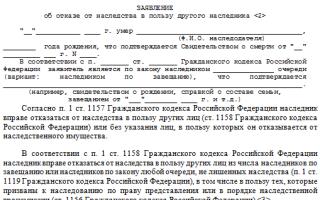 Документы для отказа от наследства для нотариуса