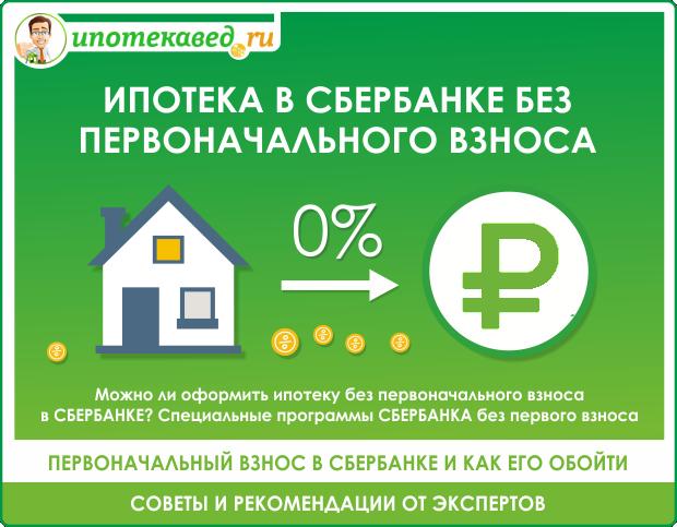 Как взять в сбербанке ипотеку без первоначального взноса в 2020 году