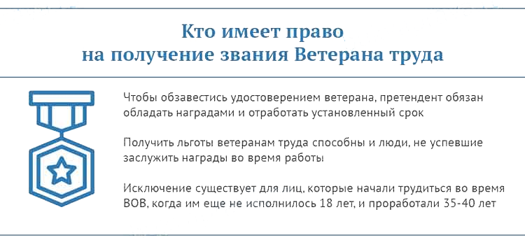 Документы для ветерана труда в москве в 2020 году. uristtop.ru