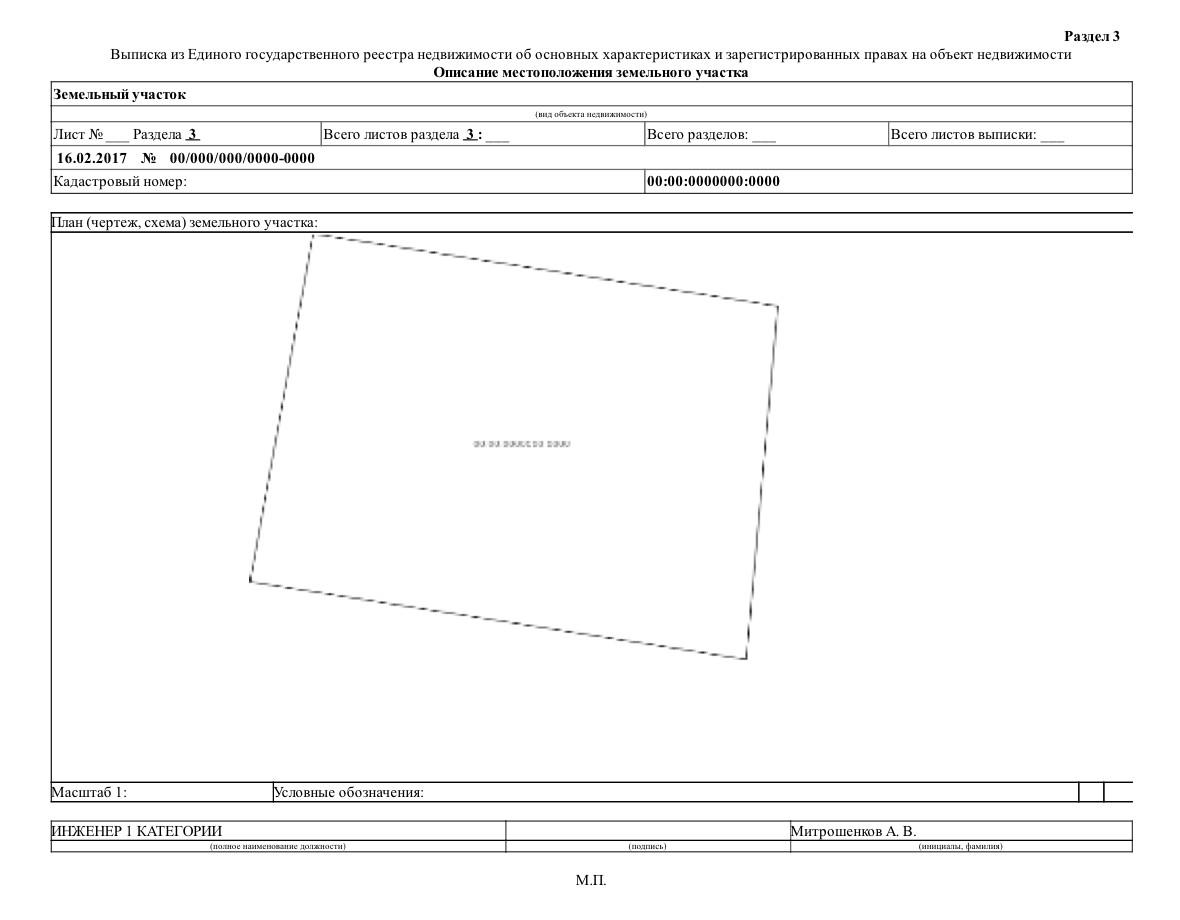 Как выглядит кадастровый план территории и какие сведения он содержит