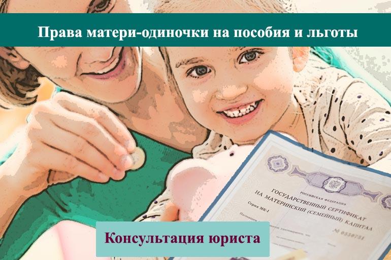Пособия и льготы для матерей-одиночек в 2020 году