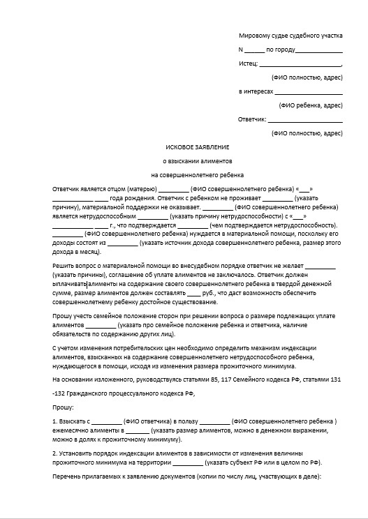 Заявление на алименты в 2020 году, образец и порядок оформления