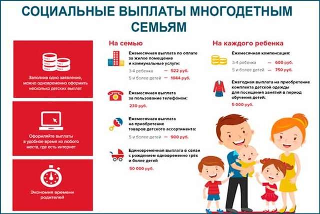 Выплаты многодетным семьям в московской области в 2020 году