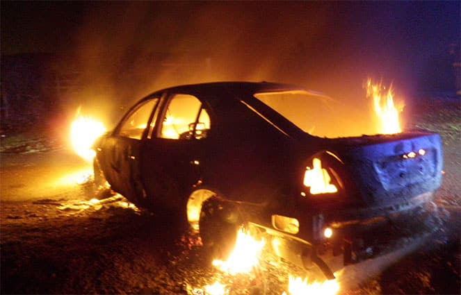 Как уголовный кодекс наказывает за поджог автомобиля
