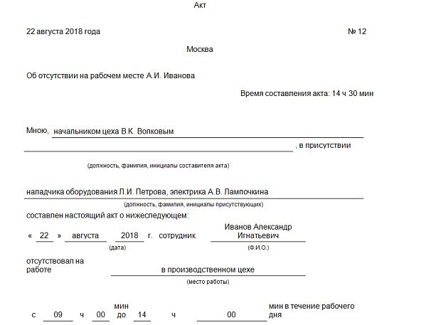 Увольнение за прогул пошаговая процедура-схема с образцами документов на 2018 год