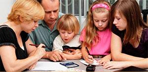 Выплаты малоимущим семьям с детьми