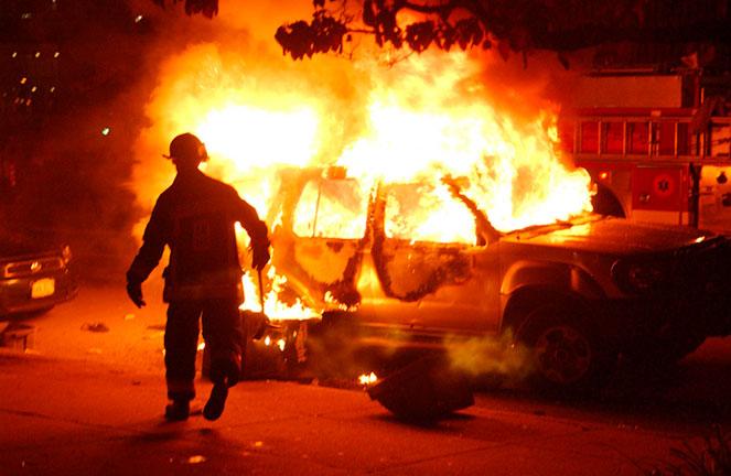 Штраф за поджог двери, дома, автомобиля
