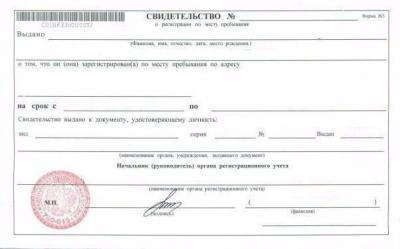 Временная регистрация для граждан рф: что требуется для ее получения