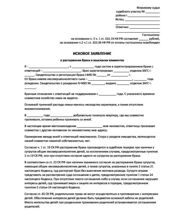 Алименты после развода: перечень документов, куда и в какие сроки подавать